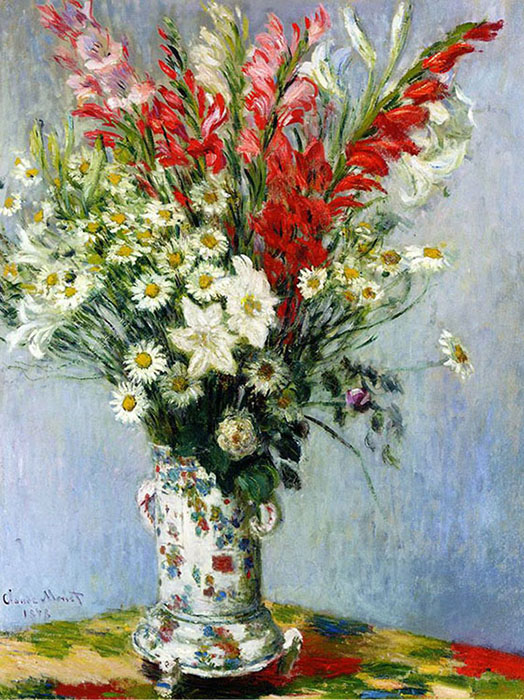 C. Monet. Bunch of Gladioli and Lilies