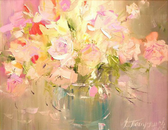 Dmitry Patrushev. Bunch of Gladioli