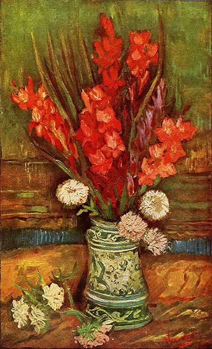 Vinsent van Gogh. Still life with Red Gladioli